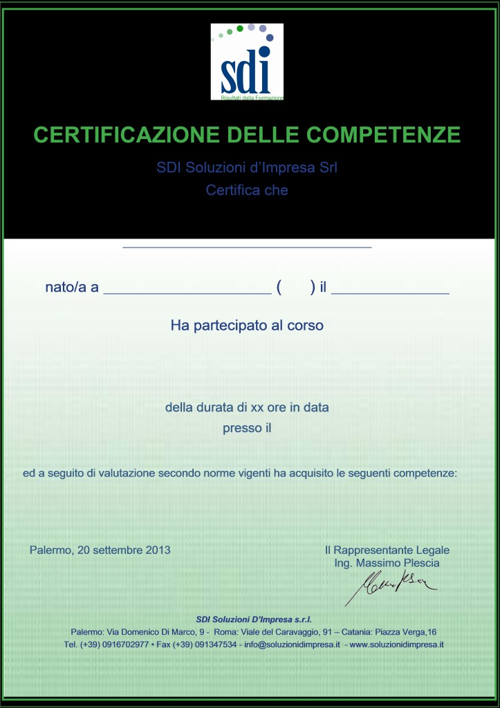 certificatoSDI