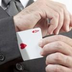 La pubblicità, il poker e le mani sporche.